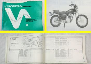Honda CM250 Cc Parts Catalogue Ersatzteile Teilekatalog Catalogue de Pieces 1982