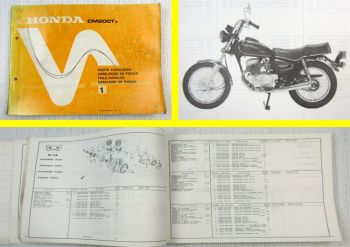 Honda CM200T A Parts Catalogue Ersatzteile Teilekatalog Catalogue de Pieces 1979