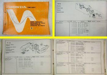 Ersatzteilkatalog Honda CB125T Twin Parts List Teile-Katalog Catalogo de Piezas