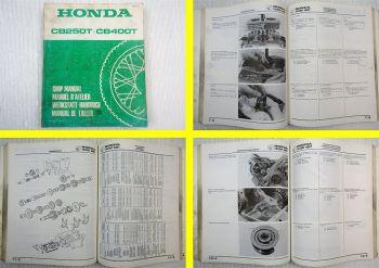 Werkstatthandbuch Honda CB250T CB400T Reparaturhandbuch Shop Manual 1977