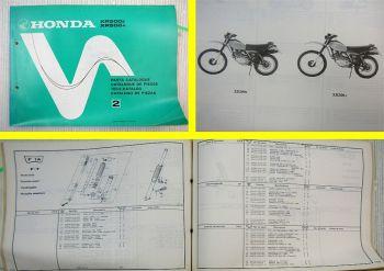Ersatzteilkatalog Honda XR500 Z / A Parts Catalogue Ersatzteilliste 1979