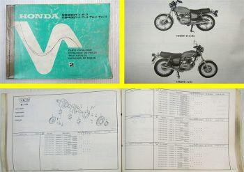 Ersatzteilkatalog Honda CB250T CB400T TZ TI TII Parts List  Ersatzteilliste 1978