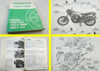 Reparaturanleitung Honda CB1100F Super Boldor Shop Manual Werkstatthandbuch 1983