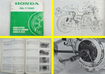 Honda GL1100 GoldWing Werkstatthandbuch Zusatz 1980 Shop Manual Supplement