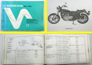 Teilekatalog Parts List Honda GL1000 A Goldwing Ersatzteilliste 1979