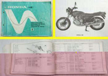 Ersatzteilkatalog Honda CBXZ CBX1000 Super Sport Parts List Ersatzteilliste 1978