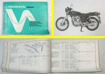 Ersatzteilkatalog Honda CB650z Parts Catalogue Ersatzteilliste 1978