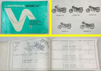 Ersatzteilkatalog Honda CB750 F FZ FA FB FC F2 Parts List Ersatzteilliste 1981