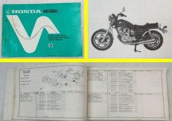 Ersatzteilkatalog Honda CB750 CA / CB Parts List Ersatzteilliste 1980