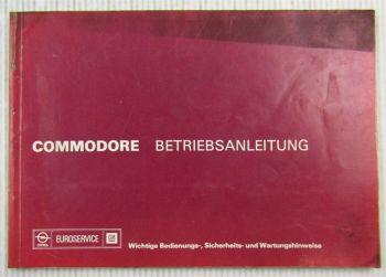 orig. Opel Commodore B Betriebsanleitung Bedienungsanleitung 1976