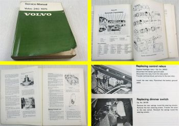 original Volvo 240 Service Manual April 1975 Maintenance Instruction Manual