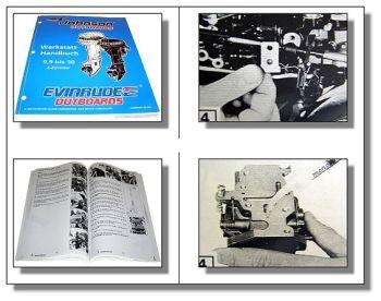 Evinrude Johnson 9.9 10 15 20 25 30 EC 2 Zylinder Außenborder Werkstatthandbuch