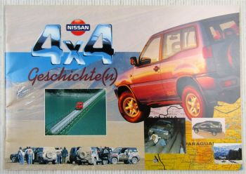 Prospekt Nissan 4x4 Geschichten Terrano Mistral Pick-Up Patrol VG6 GR Off-Roader