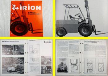 Prospekt Irion Allweg-Gabelstapler DFG40SG Ausgabe 08/1978
