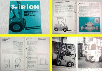 Prospekt Irion DFG15S und DFG20Se Diesel Gabelstapler Technische Daten 09/1976