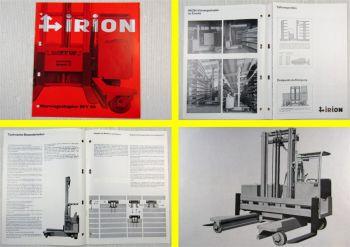 Prospekt Irion Vierwegestapler EFY30 originale Ausgabe 03/1980 Broschüre