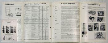 Prospekt Irion VTA-Irion Elektro-Fahrersitz-Gabelstapler EFG1001 Ausgabe 1970