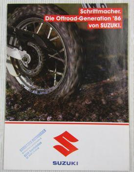 Prospekt Suzuki DR250S TS250X DR600S DR600R Darkar Off-Road 1986