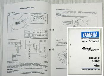 Yamaha Marine Jet MJ650TL Service Guide  technical feature and construction 1989