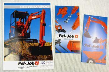 Prospekt Pel-Job EB150 200 + 2 Programmhefte Zubehör und Baumaschinen 1995-97