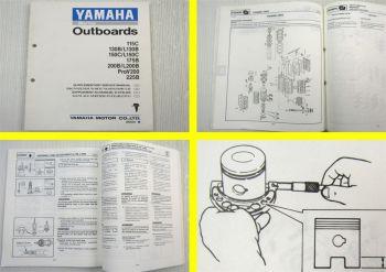 Yamaha 115C 130B - 225B Werkstatthandbuch Ergänzung Supplem. Service Manual 1991