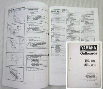 Yamaha 20 25 PS D N T2 Werkstatthandbuch Ergänzung Supplem. Service Manual