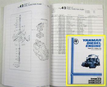 Yanmar 3HM35 C/F marine diesel Parts List Ersatzteilliste ab 05/1984