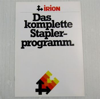 Prospekt Irion Staplerprogramm EFG DFG TFGDFQ TFQ Spezial- Transportgeräte 79