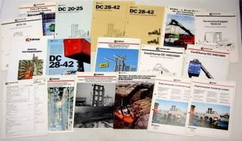 18 Prospekte zu Kalmar Irion Staplern 80er und 90er Jahre und Technische Daten