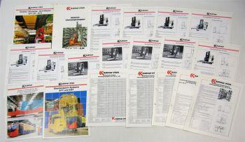 Konvolut original Prospekte Kalmar Irion Stapler 1990er Jahre + Technische Daten