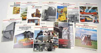 12 originale Prospekte Kalmar Irion Stapler 80er u 90er Jahre Technischen Daten