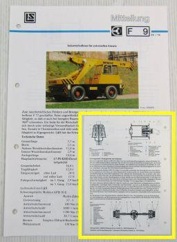 LuS Lohmann + Stolterfoht Getriebe Demag Kran V72 Technische Mitteilung 04/1978
