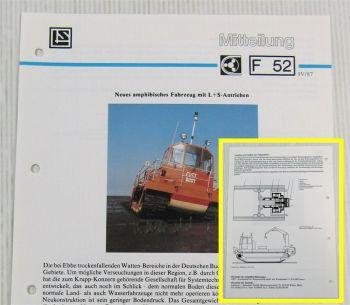 LuS Lohmann + Stolterfoht Getriebe Amphibienfahrzeug GST Technische Mitteilung