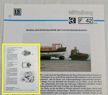 Lohmann Stolterfoht Getriebe Taulus MB-C Raupenschlepper Technische Mitteilung