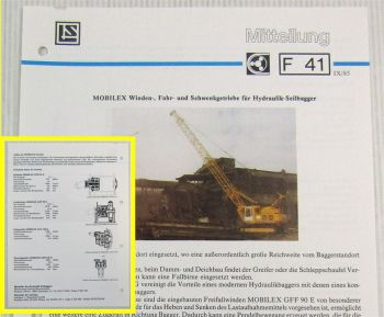 LuS Lohmann + Stolterfoht Getriebe für Demag H40G Bagger Technische Mitteilung