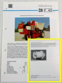 Lohmann + Stolterfoht Getriebe A.L.M.A. Weinlesemaschine Technische Mitteilung