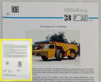 LuS Lohmann Stolterfoht Getriebe für C.V.S. DM210 Dumper Technische Mitteilung