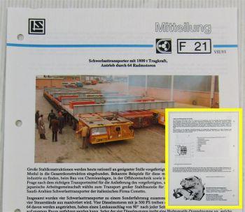 Lohmann Stolterfoht Getriebe Cometto Schwerlasttransporter Technische Mitteilung
