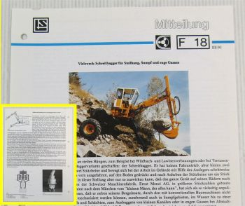 LuS Lohmann + Stolterfoht Getriebe Muck 3000 + 5000 Bagger Technische Mitteilung
