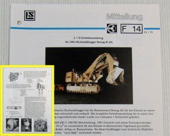 LuS Lohmann + Stolterfoht Getriebe Demag H241 240t Bagger Technische Mitteilung