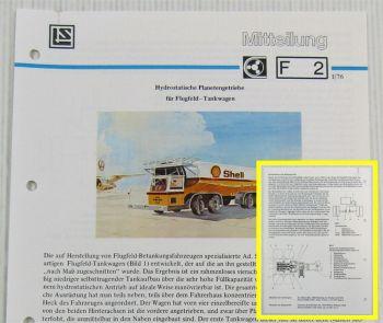 LuS Lohmann + Stolterfoht Getriebe Strüver Tankwagen Technische Mitteilung 01/76