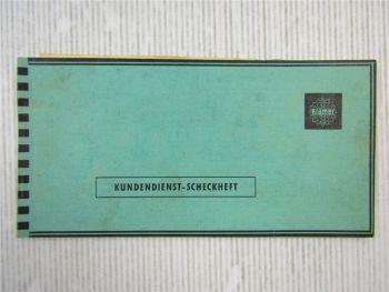Kramer KL200 Schlepper Kundendienst Scheckheft 1960 benutzt