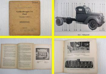 Wehrmacht Anweisung D666/9 Bedienung Gerätebeschreibung Ford 3t Bm. V3000S