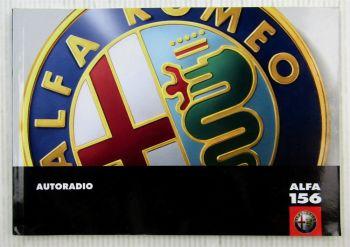 Alfa Romeo Alfa 156 Autoradio Bedienungsanleitung Betriebsanleitung 01/2001