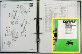 Ersatzteilkatalog Claas Jaguar 80 SF Ersatzteilliste Spare parts List 1990