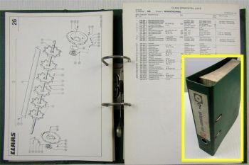 Ersatzteilkatalog Claas Dominator 106 Ersatzteilliste Spare parts list 1985