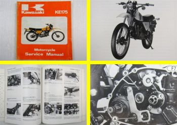 Kawasaki KE175 Motorcycle Service Manual Repair Maintenance 11/1979