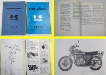 Kawasaki KZ400 D S  Shop Manual Werkstatthandbuch Reparaturhandbuch 1975