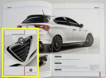 Prospekt Alfa Romeo Giulietta Zubehör Ausstattung Stand 04/2011