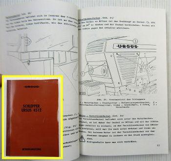 Ursus 4512 Schlepper Betriebsanleitung Bedienungsanweisung 1993